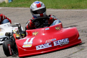Matt Skaggs raced to his first win of the year at Barnesville AKRA
