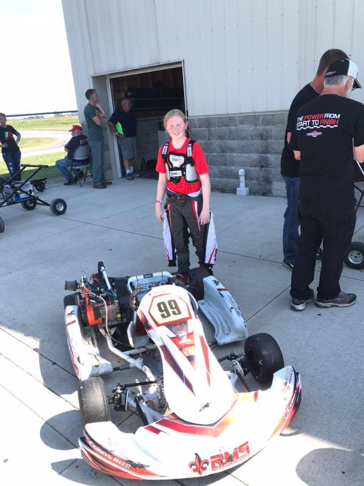 Camryn Reed after a hard-fought weekend of racing in Sportsman competition